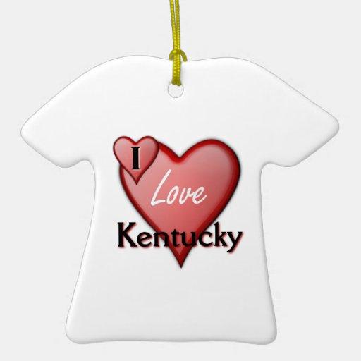 I Love Kentucky Christmas Ornament