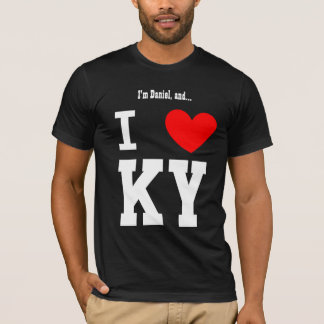 I Love Kentucky or Any City or State Red Heart T-Shirt