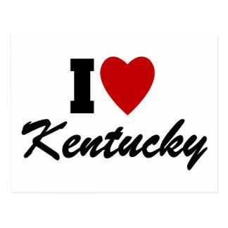 I Love Kentucky Postcard