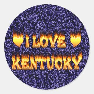 I love kentucky round sticker