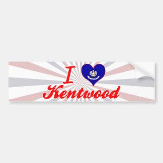 I Love Kentwood, Louisiana Bumper Sticker
