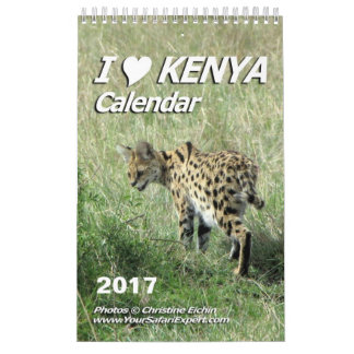 I LOVE KENYA Calendar (Single Page)