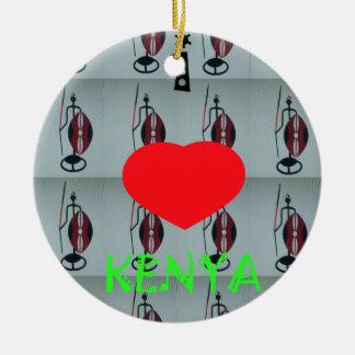 I Love Kenya Ceramic Ornament