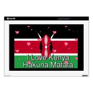 I Love ! Kenya Hakuna Matata Decal For Laptop