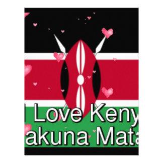 I Love ! Kenya Hakuna Matata Letterhead