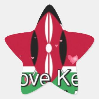I Love ! Kenya Hakuna Matata Star Sticker