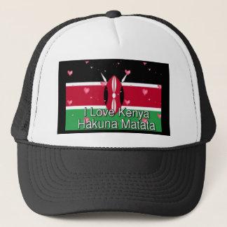 I Love ! Kenya Hakuna Matata Trucker Hat