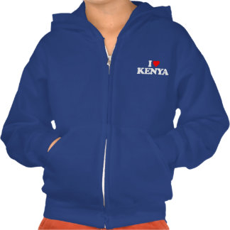 I LOVE KENYA HOODED SWEATSHIRT