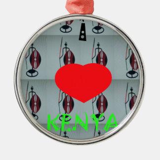 I Love Kenya Metal Ornament