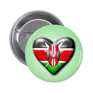 I Love Kenya Pinback Button