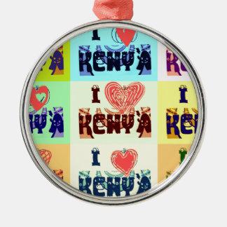 I love Kenya.png Metal Ornament