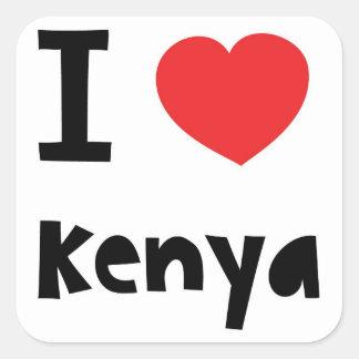 I love Kenya Square Sticker