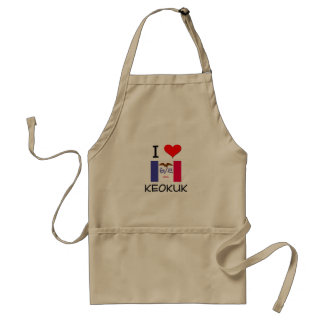 I Love KEOKUK Iowa Adult Apron