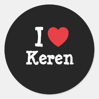 I love Keren heart T-Shirt Classic Round Sticker