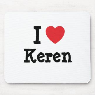 I love Keren heart T-Shirt Mouse Pad
