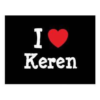 I love Keren heart T-Shirt Postcard