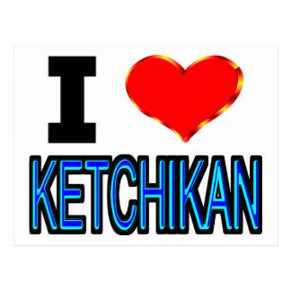 I Love Ketchikan Postcard