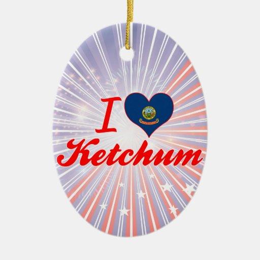 I Love Ketchum, Idaho Christmas Ornament