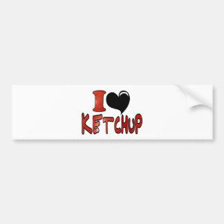 I Love Ketchup Bumper Stickers