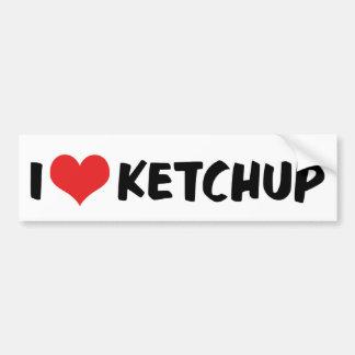 I Love Ketchup Bumper Sticker Car Bumper Sticker
