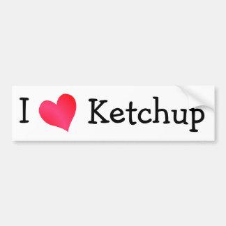 I Love Ketchup Car Bumper Sticker