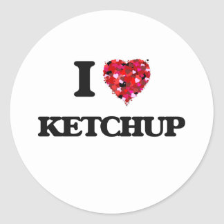I Love Ketchup Classic Round Sticker