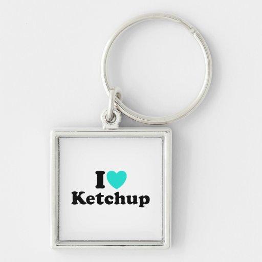 I Love Ketchup Key Chains