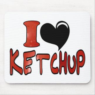 I Love Ketchup Mouse Pad