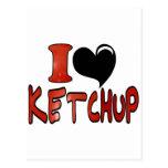 I Love Ketchup Post Cards