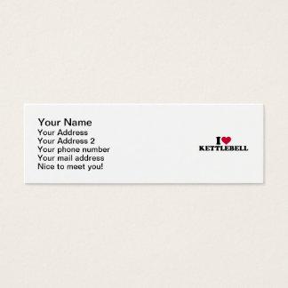 I love Kettlebell Mini Business Card