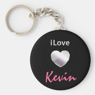 I Love Kevin Keychains