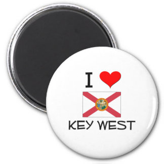 I Love KEY WEST Florida 2 Inch Round Magnet
