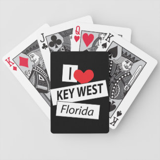 I Love Key West Florida Bicycle Playing Cards
