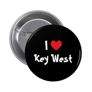 I Love Key West Florida 2 Inch Round Button