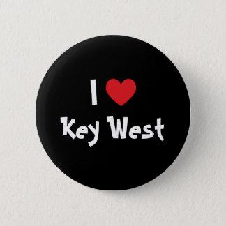 I Love Key West Florida Pinback Button