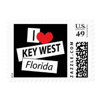 I Love Key West Florida Postage Stamp