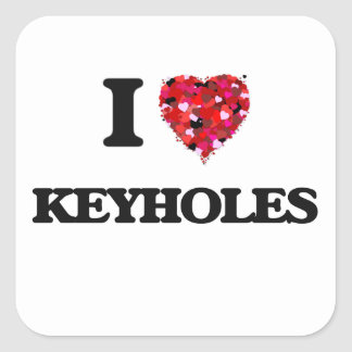 I Love Keyholes Square Sticker