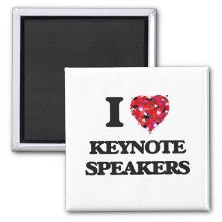 I Love Keynote Speakers 2 Inch Square Magnet