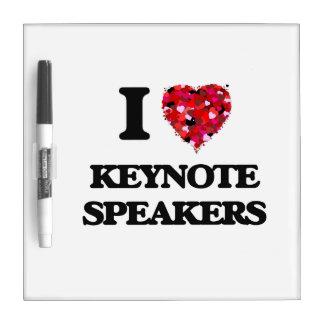 I Love Keynote Speakers Dry Erase Board