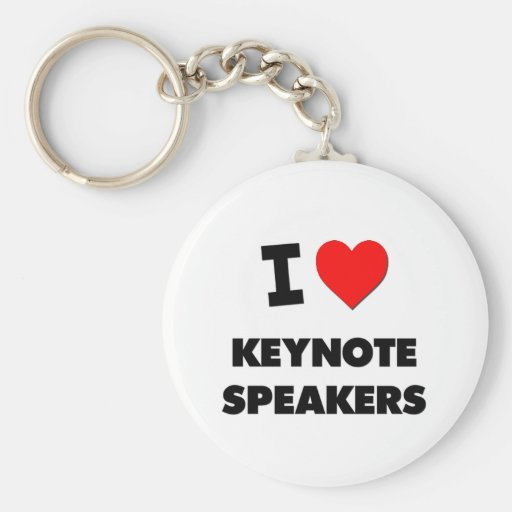 I Love Keynote Speakers Basic Round Button Keychain
