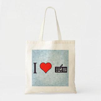 I Love Keywords Tote Bag