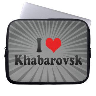 I Love Khabarovsk, Russia Computer Sleeves