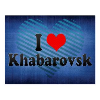 I Love Khabarovsk, Russia Postcard