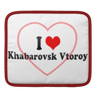 I Love Khabarovsk Vtoroy, Russia Sleeves For iPads
