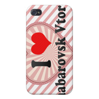 I Love Khabarovsk Vtoroy, Russia iPhone 4 Cases