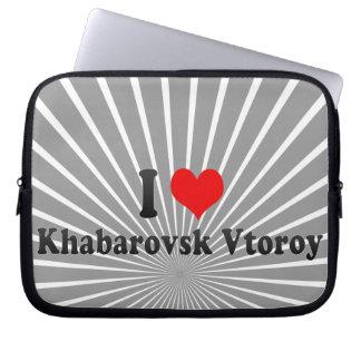 I Love Khabarovsk Vtoroy, Russia Laptop Sleeves
