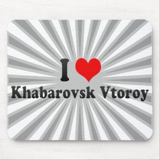 I Love Khabarovsk Vtoroy, Russia Mouse Pads