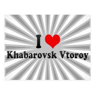 I Love Khabarovsk Vtoroy, Russia Postcard