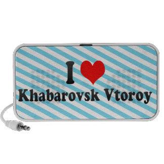 I Love Khabarovsk Vtoroy, Russia Notebook Speaker