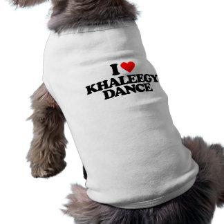 I LOVE KHALEEGY DANCE PET T SHIRT